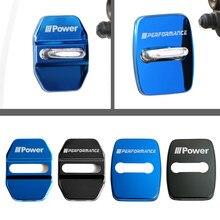 For BMW M X1 X3 X5 X6 E46 E39 E90 E36 E60 E34 E30 F30 Car Auto Accessories Door lock cover Emblem Badge Stickers