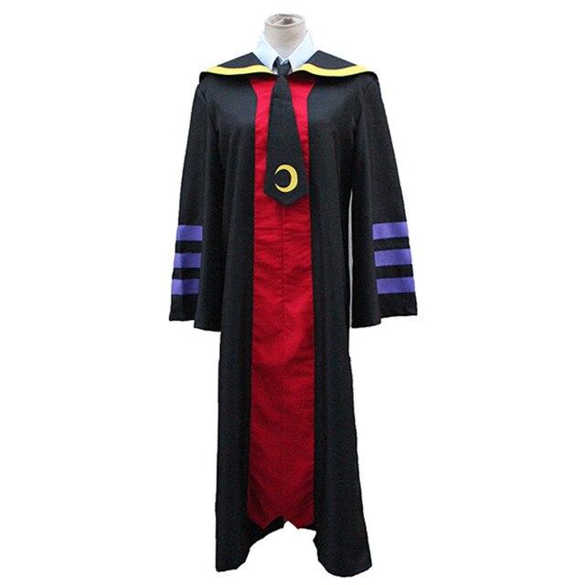 Anime Assassination Classroom Ansatsu Kyoushitsu Cosplay Costume Korosensei Unisex Long Cloak ( Robe + Tie ) Size S-XL
