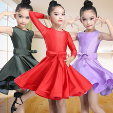 Childrens Latin dance costume girls standard competition rules for childrens performance clothing costumes skirt