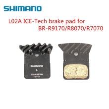 цены Shimano L02A Resin Road Bike Disc Brake Pads For BR-R9170 BR-R8070  BR-RS805 BR-RS505 BR-RS405 BR-RS305 BR-U5000 Road Bicycle