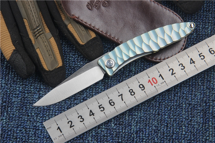 KESIWO New CR folding font b knife b font M390 blade outdoor font b tactical b
