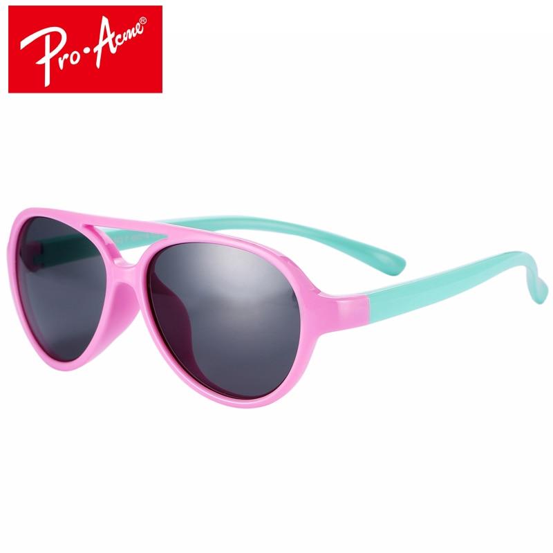 Pro Acme TR90 Flexibilní dětské sluneční brýle Polarizované chlapecké dívky Sluneční brýle Dětské sluneční brýle Kojenecké odstíny UV400 CC0607
