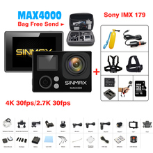 Action Camera SINMAX Max4000 1080@60FPS Sports action Video Camera remote bluetooth 4K Wifi 30M Waterproof Camera Fotografica