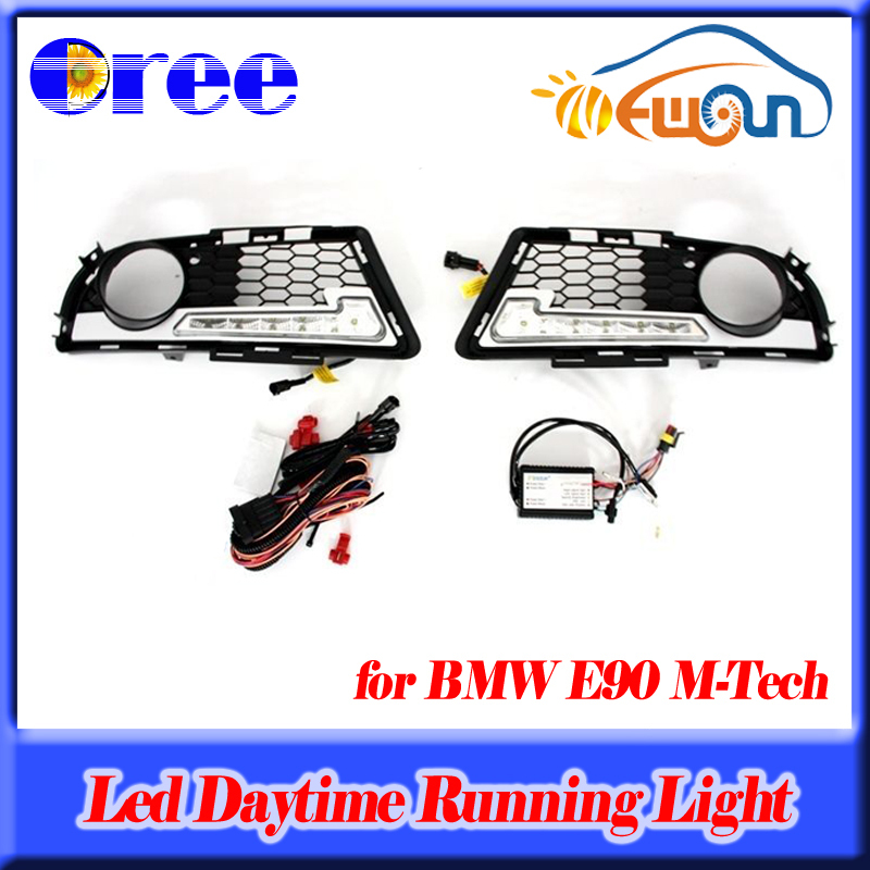 High power 12W LED DRL Daytime Running Fog Lights for BMW 3 Series E90 E91 LCI 08-11 M-Tech high quality light high power led daytime running lights for bmw e90 lci 3 series sedan 15w 2009 2012 freeshipping