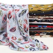 75*180cm printed bubble chiffon hijab femme musulman long muslim shawls islamic headscarf clothing