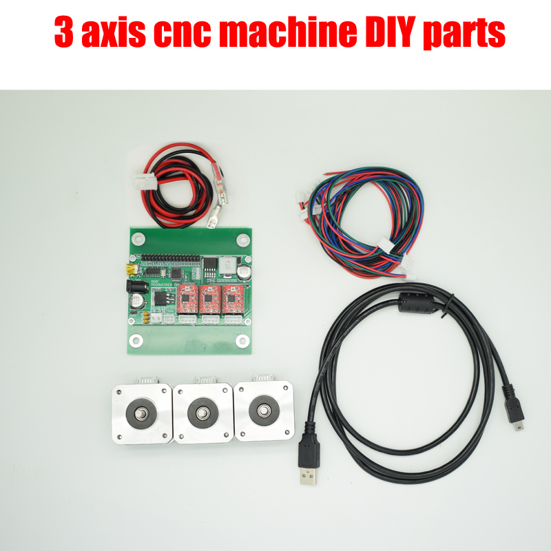 Diy 3-axis cnc machine parts,laser engraver control board,GRBL control board+3 pieces step motor,Pvc Mill Engraver parts electronic blocks diy cnc laser engraving machine control board 3 axis grbl toy parts