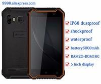 JEASUNG P8 Waterproof New Mobile Phone IP68 4G Shockproof Phone 2G RAM 16GB ROM Smartphone 5