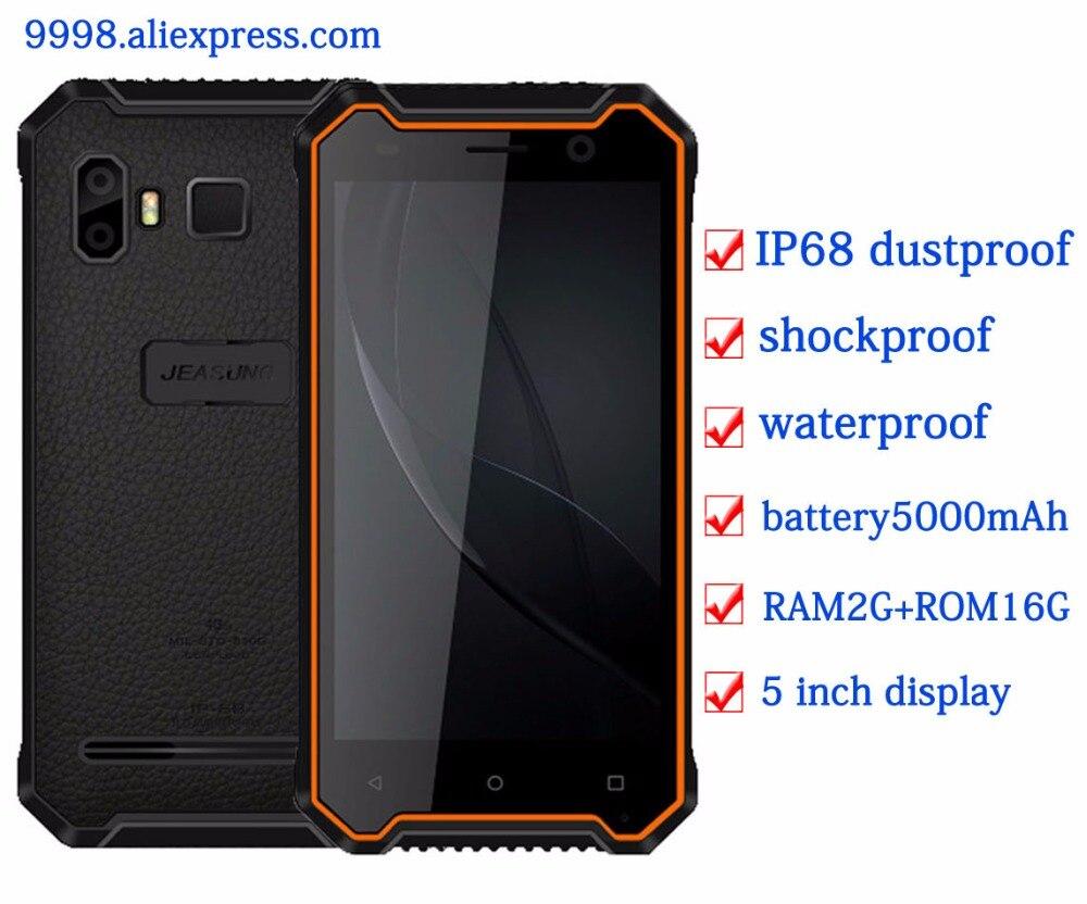 "JEASUNG P8 Waterproof new Rugged mobile phone IP68 4G Shockproof 2G RAM 16GB ROM Smartphone 5\"" FDD LTE Fingerprint IP67 OEM S10"