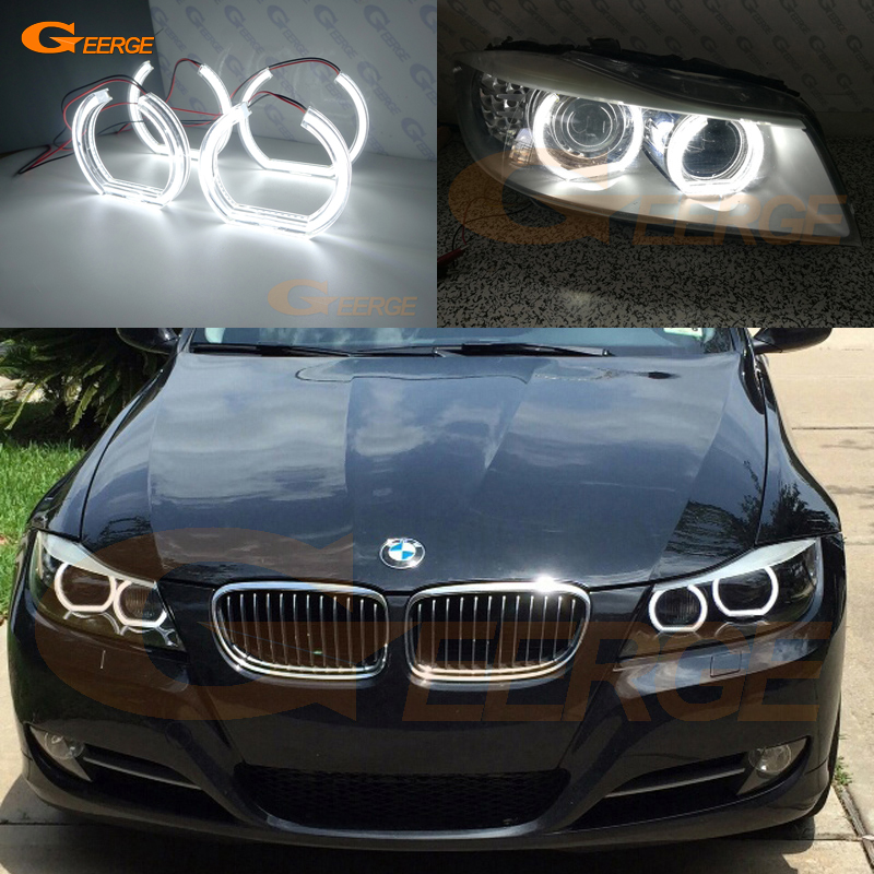 For BMW 3 Series E90 E91 2009-2012 Xenon headlight Excellent DTM Style Ultra bright led Angel Eyes kit dtm 612 page 3