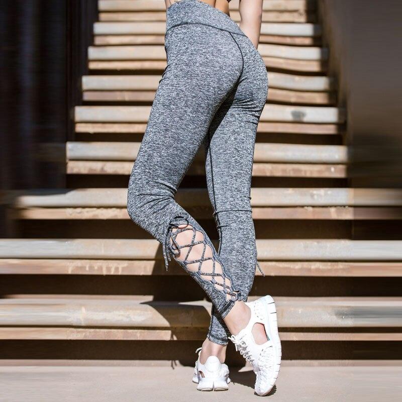 CHU YOGA 2018 Women High Waisted Fitness Yoga Pants Sport Leggings Running Cross Tights Gym Hollow Slim Sport Dance Pants P1602