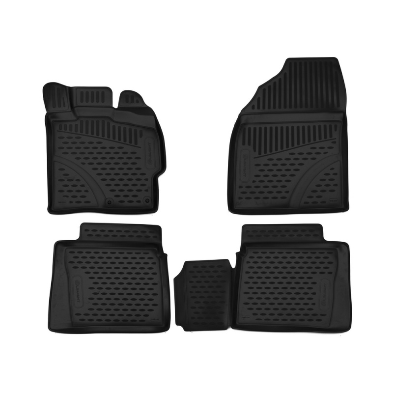 Фото - Car Mats 3D salon For TOYOTA Prius 30, 2009-2015, right steering, 4 PCs (polyurethane) custom fit car floor mats for toyota camry rav4 prius prado highlander verso 3d car styling carpet liner ry56
