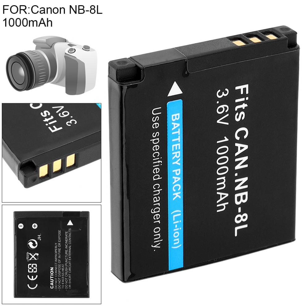 3.6V 1000mAh Li-ion Rechargeable Camera Battery For Canon PowerShot A3300 A3200 A3100 A3000 A2200 A1200 IS Camera Battery Pack