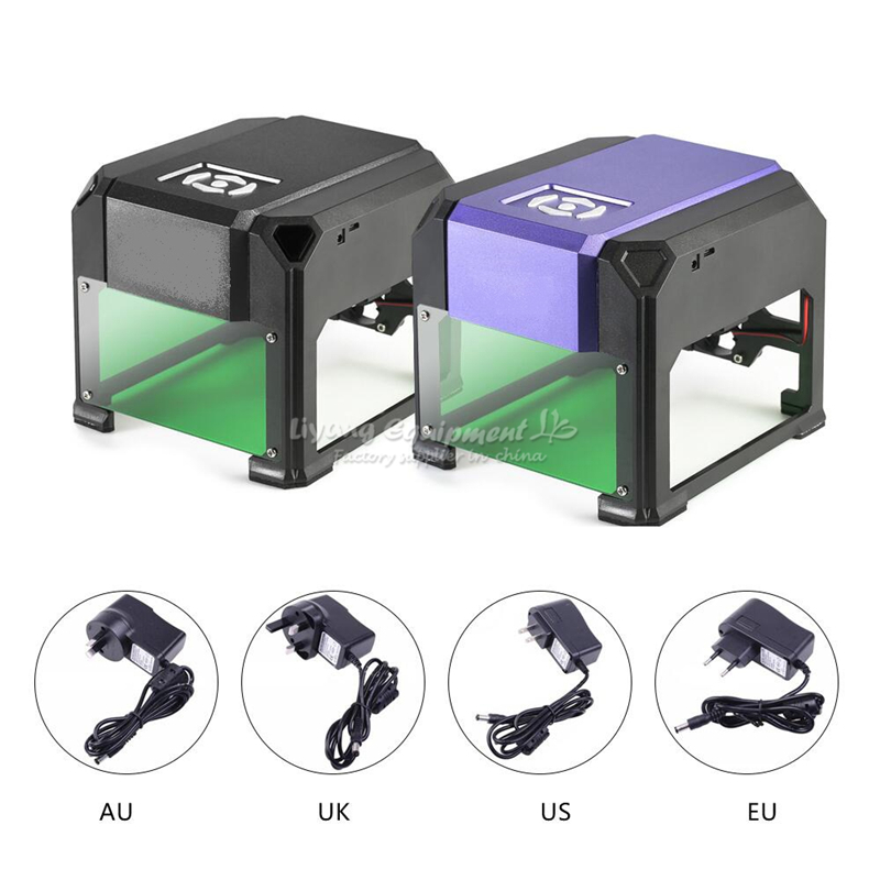 Desktop DIY kleine LOGO Mark Drucker Cutter 1500mW 1,5 W USB CNC Desktop Laser Stecher Maschine 80x80mm Gravur Palette