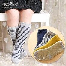 KACAKID Winter Unisex Children Socks Stripes Kids Boys Girls Children Socks Cotton Antislip Warm Kids Baby Children Socks Ka1009