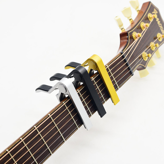 Professional Aluminum Alloy Tune Guitar Tuner Clamp Key Trigger Capo for Acoustic Electric Musical Instruments 5