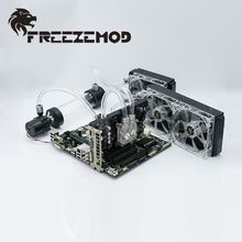 FREEZEMOD computer water cooling system Set basic set 2 for soft pipe ,FREEZEMOD-BKS2
