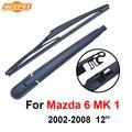 Qeepei lâmina traseira e braço para mazda 6 mk 1 2002-2008 12 5 ''portas wagon RMZ05-1B Iso9000 Alta Qualidade de Borracha Natural