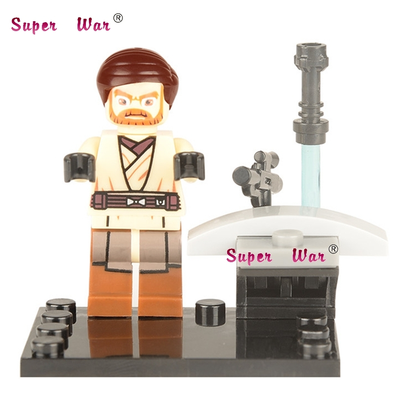 50pcs superhero Obi Wan building blocks action bricks friends for girl boy house games kids children