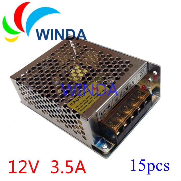 40W LED display video camera switching power supply output 12V 3.5A 42W input 110V 220V small size 15pcs