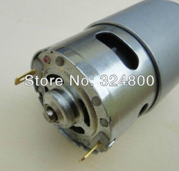 Dc motor 12v 775 high speed high torque 15600rpm for Dc motor hair dryer