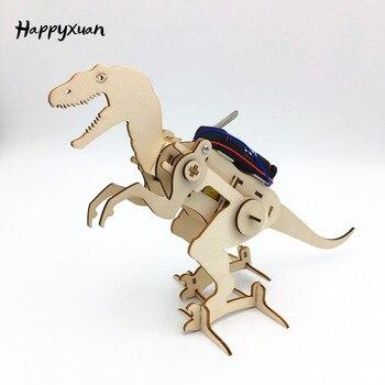 Happyxuan Wissenschaft Kit Kinder Innovative Elektrische Bau Set DIY T Rex Modell Interessant Jungen Handwerk Spielzeug Physik Spaß Bildung