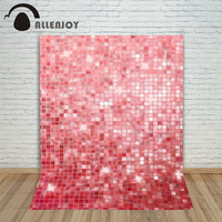 Photography Background Pink Shiny Square Piece Baby Princess Summer Computer Printed Allenjoy Backdrops