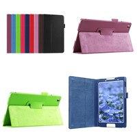 Protective Bag Folio PU Leather Book Case For Lenovo Tab 3 8 8 0 Inch TB3