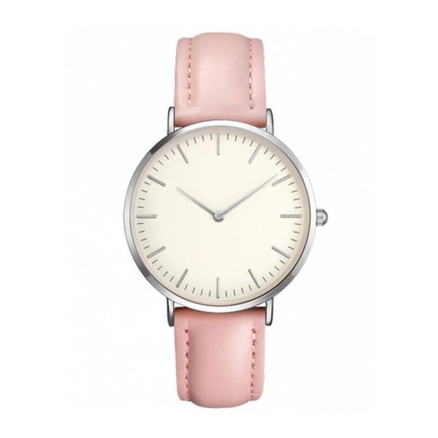 2018 New Fashion Quartz Watch Lovers Watches Women Men Ladies Dress Watch Leathe