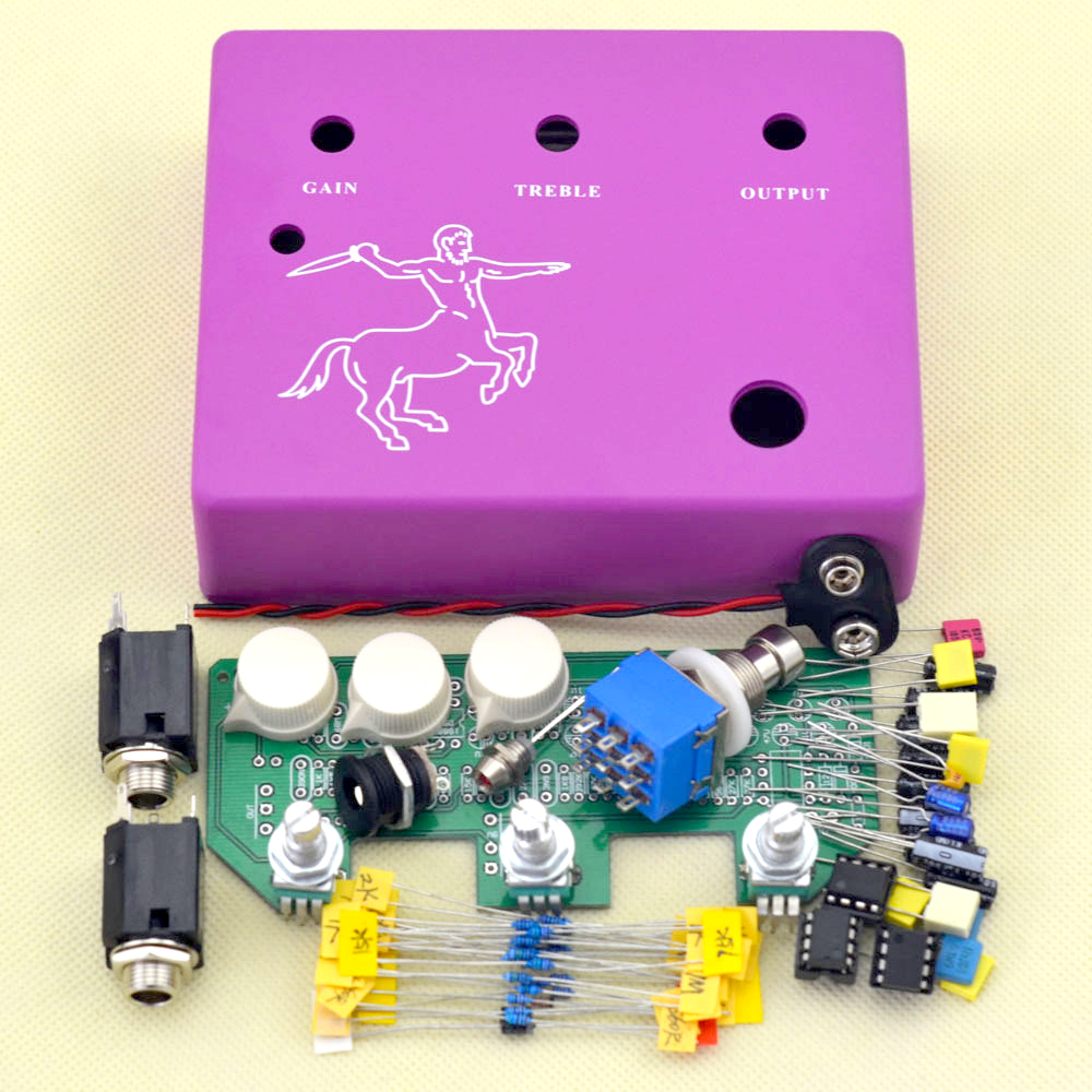 DIY Klon Centaur Pedala Overdrive Professional Full Kit True Bypass Transport gratuit
