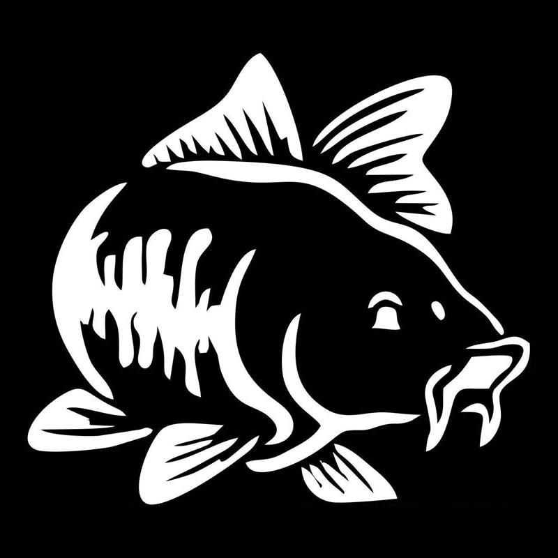 10*9CM Car Styling Animal Cartoon Cute Fish Skeleton Bumper Decal Window Glass Decorative Stickers y-024