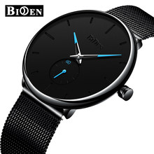 Luxury Fashion Mens Watches Men Casual Slim Mesh Steel Waterproof Sport Watch Relogio Masculino Unisex Ultra Thin Quartz Watch(China)