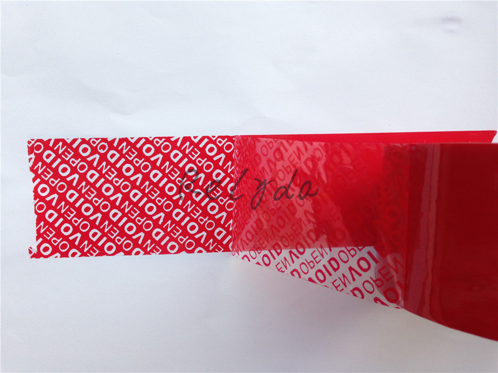 2pcs Free Shipping Custom Tamper Evident Packing Tape Security Packaging Tapes Printing Void Open Sealing Sticker Label 30mm*15m Clear-Cut Texture