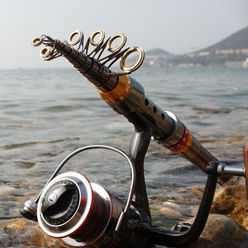 fishing rod set carbon sea rod ultra-short retractable far fishing rod fishing tackle удочка fishing rod 1