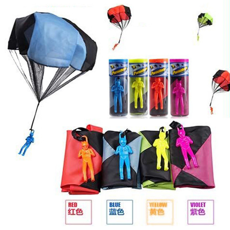 Hand Throwing Kids Mini Play Parachute Toy Soldier Outdoor Sports Children Educational Toys Kids Birthday Gifts