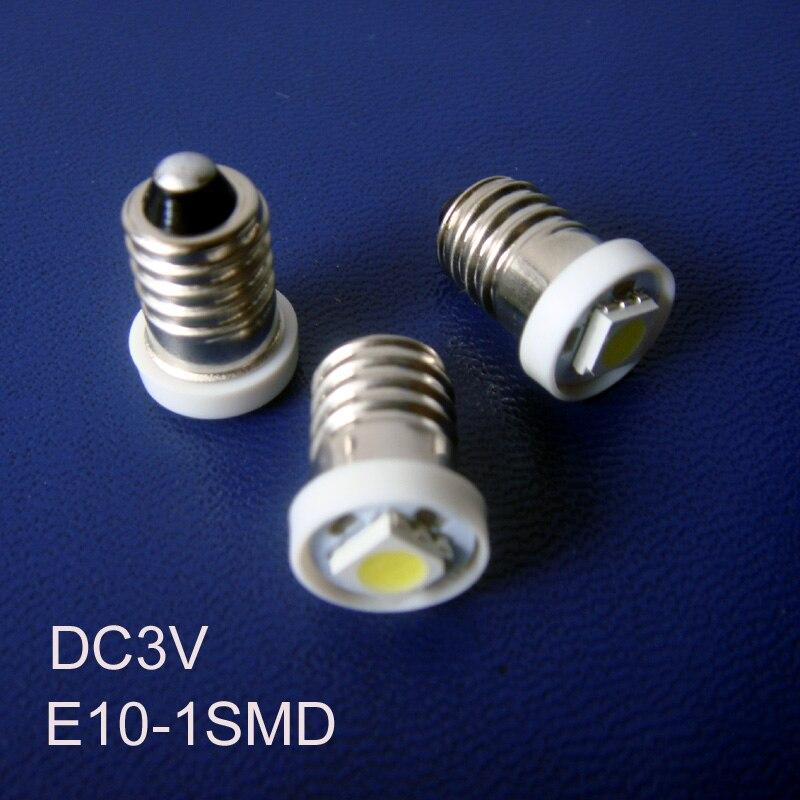 High quality DC3V E10 Led Bulb Lamp Light,E10 3V Led Signal Light,Led Instrument Light,Led Warning Light free shipping 50pcs/lot
