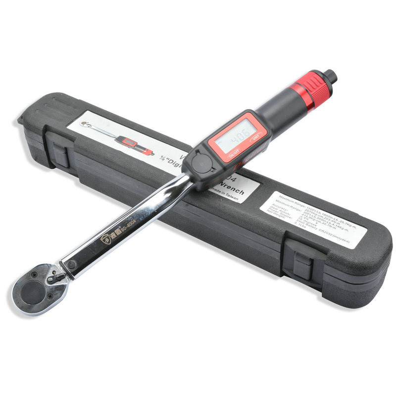 1/2-Inch Drive Digital Read Out Torque Wrench Drive Click Torque Wrench Preset Torque Wrench DAL031 chrome vanadium steel preset torque wrench 40 200n m 1 2 drive head