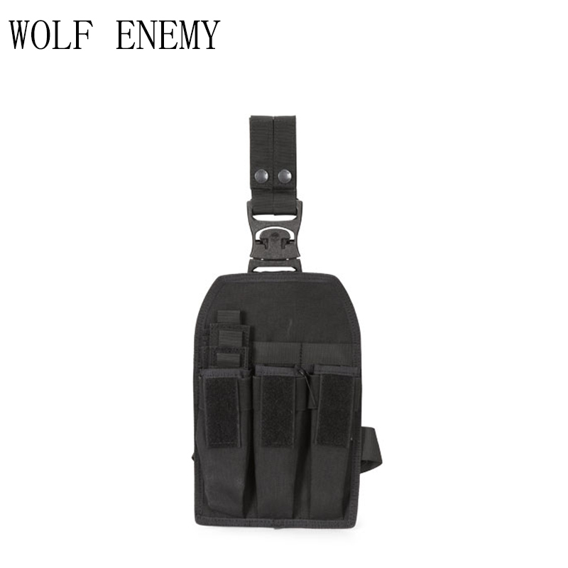 Pouches Hunting Outdoor Tactical Kriss/mp7 Magazine Pouch Drop Leg Rig Hunting Military Molle Accessories Cartridge Bags