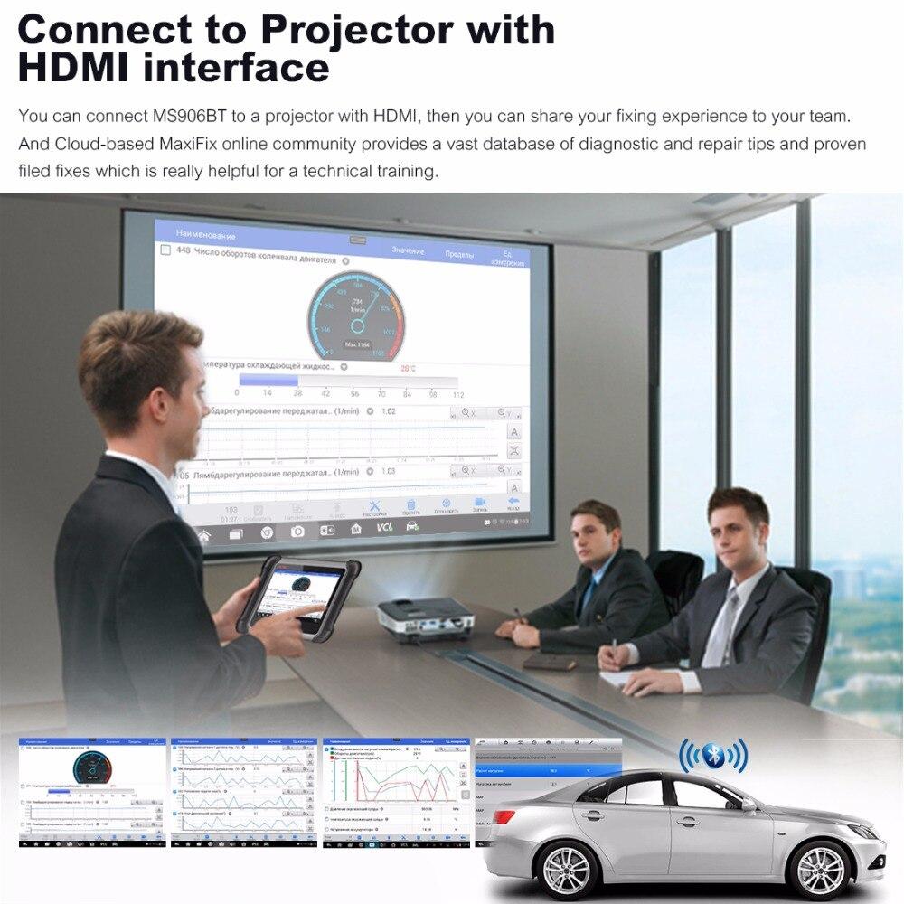 AUTEL MaxiSys MS906BT OBD2 сканер автомобильный диагностический инструмент ключ программатор поддержка дистанционного управления Tech сканер Automotivo