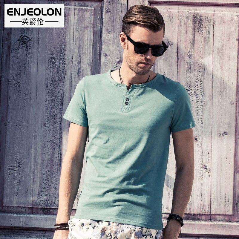 Enjeolon якість 6 кольорів тверді сорочки - Чоловічий одяг - фото 3
