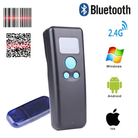 1d 2d QR 2.4G bluetooth Pocket mini Scanner warehouse retail logistics barcode scanner wireless reader with operation screen