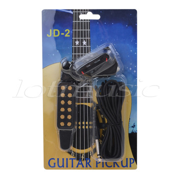Sound Hole Pickup For Acoustic Classical Guitar Parts Accessories Black