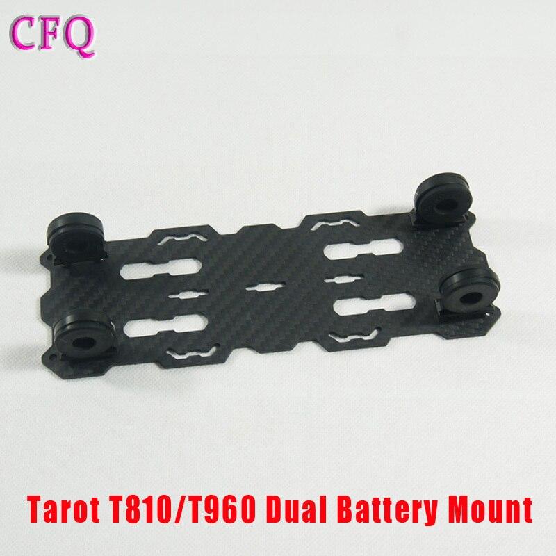 ( Cfq ) Tarot T810 / T960 plaque Dual Mount piles TL96018 pour kit RC Drone bricolage Quadcopter kit Tarot 810 960 pliable en fiber de carbone