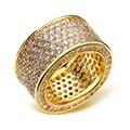 2017 Новый Круг CZ Влюбленных Кольца Имитация Алмазный Ювелирные Изделия Белый Позолоченный Обручальное Кольцо Для Женщин и Мужчин