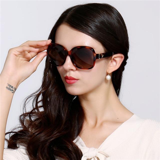 98bd2505b21 HD.space City Eye Tortoise Sunglasses Women Polarized Lenses Glasses Retro  Sunglasses Style Gradient Colors Rays UV400 Gafas