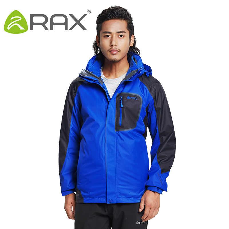 を Rax ハイキングジャケット男性防水防風暖かいハイキングジャケット冬の屋外のキャンプジャケット女性熱コート 43-1A062