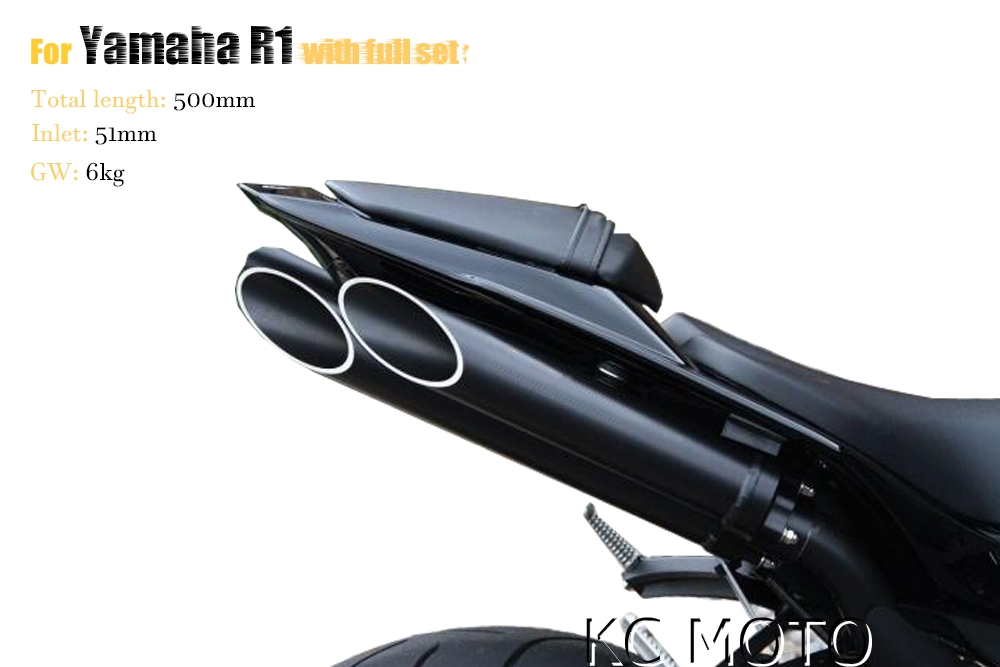 Motorcycle exhaust for Yamaha R1 2009-2014 T-Slash Slip-On Exhaust Full system exhaust m ...