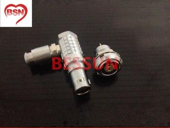 Lemo 0B 2pin connector plug , FHG.0B.302 ECG.0B.30,  90 degree elbow plug,plugMedical connector plug 2 pin,