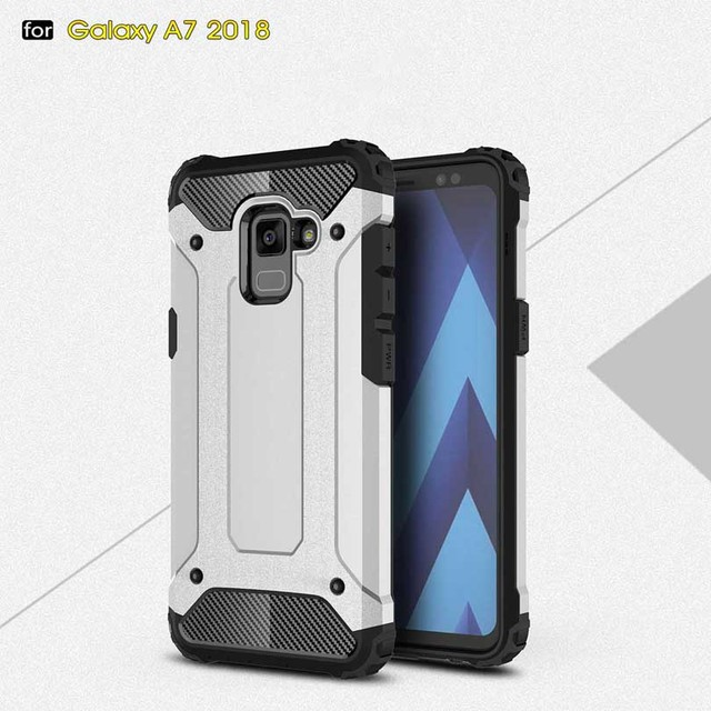 new concept 4f23b 4e4c2 US $2.99 40% OFF|For Samsung Galaxy A7 2018 / A730 Case Silicone Shockproof  Slim Hard Tough Rubber Dual Layer Armor Cases Phone Cover Case-in Fitted ...