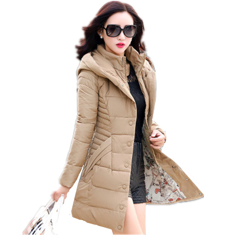 Wadded Cotton New Tide Korean Slim Was Thin Long Thick Hooded Large Size Cotton Jacket Female Winter Warm Casual Parkas MZ1706 2016 autumn and winter fashion explosion models men s warm thick cotton korean slim casual jacket