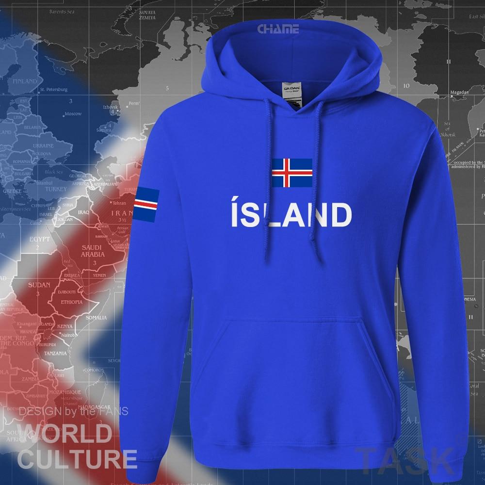 Iceland Hoodie Men Sweatshirt Sweat New Hip Hop Streetwear Island Nation Clothing 2017 Sporting Country ISL Icelander Icelandic